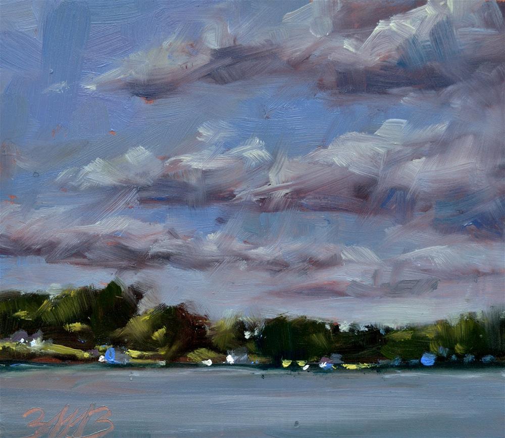 """Across the Lake"" original fine art by Brienne M Brown"