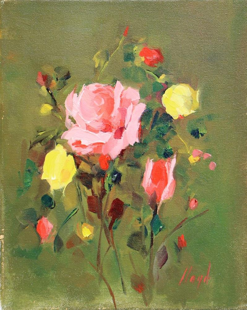 """Pink and Yellow"" original fine art by Diane Lloyd"