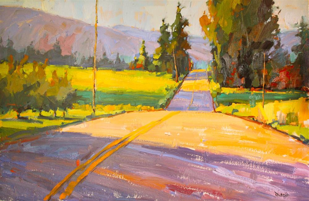 """Meandering Road"" original fine art by Cathleen Rehfeld"