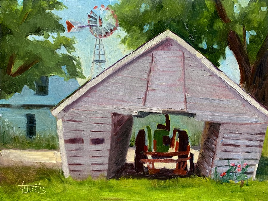 """Tractor Shed"" original fine art by Andrea Jeris"