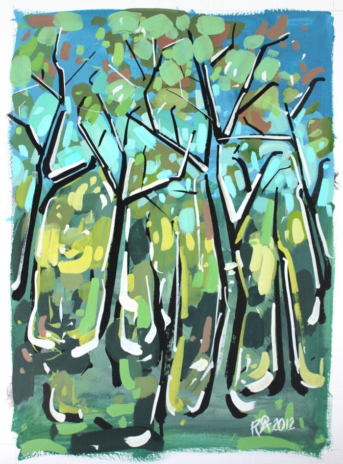 """Forest exploration 1"" original fine art by Roger Akesson"