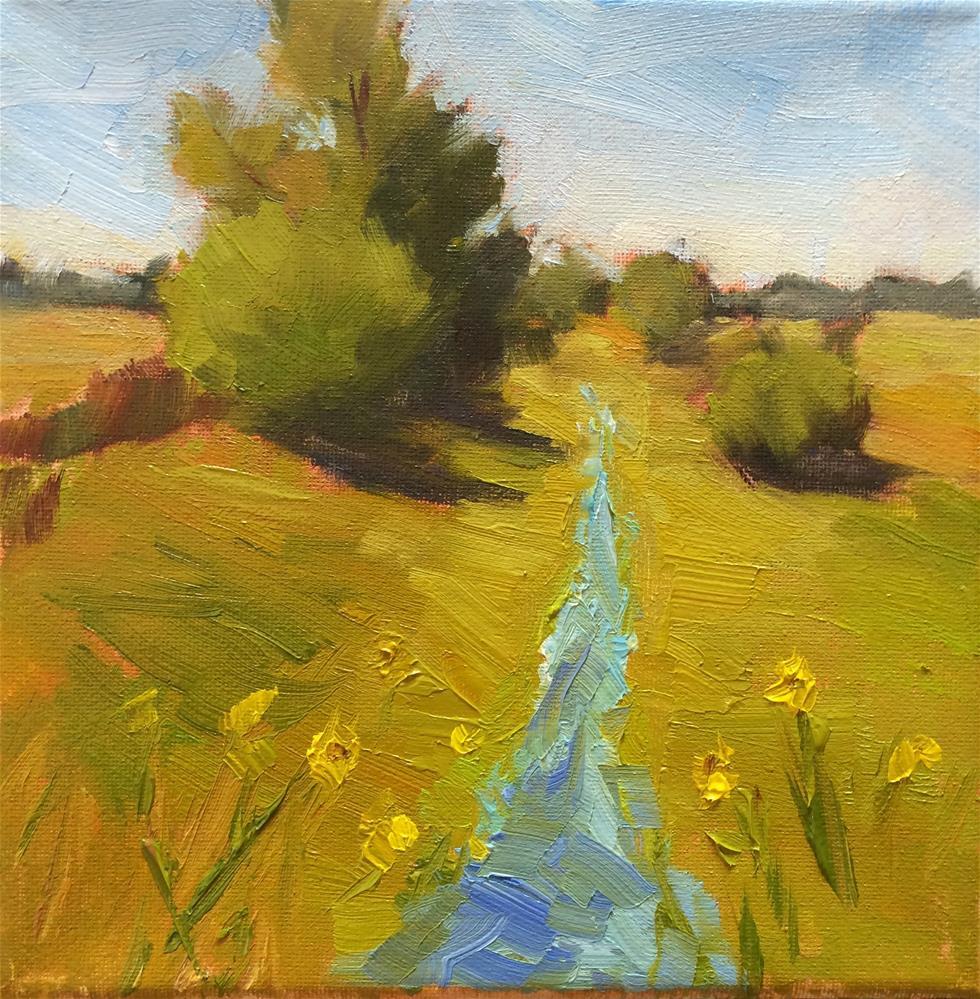 """Waterway"" original fine art by Naomi Bautista"