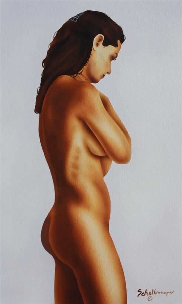"""Nude Study of Ann"" original fine art by Fred Schollmeyer"