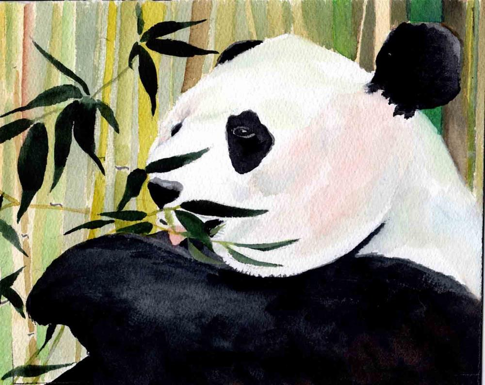 """Panda"" original fine art by Bunny Griffeth"