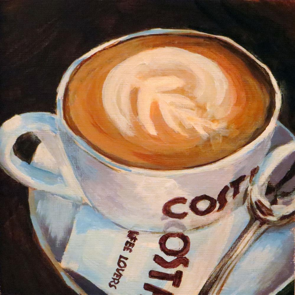 """Sip of Java"" original fine art by Janice Cook"