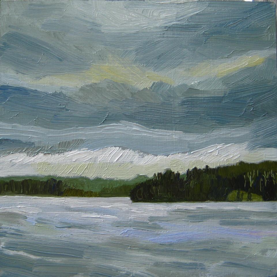 """Rolling Clouds"" original fine art by Nicki Ault"