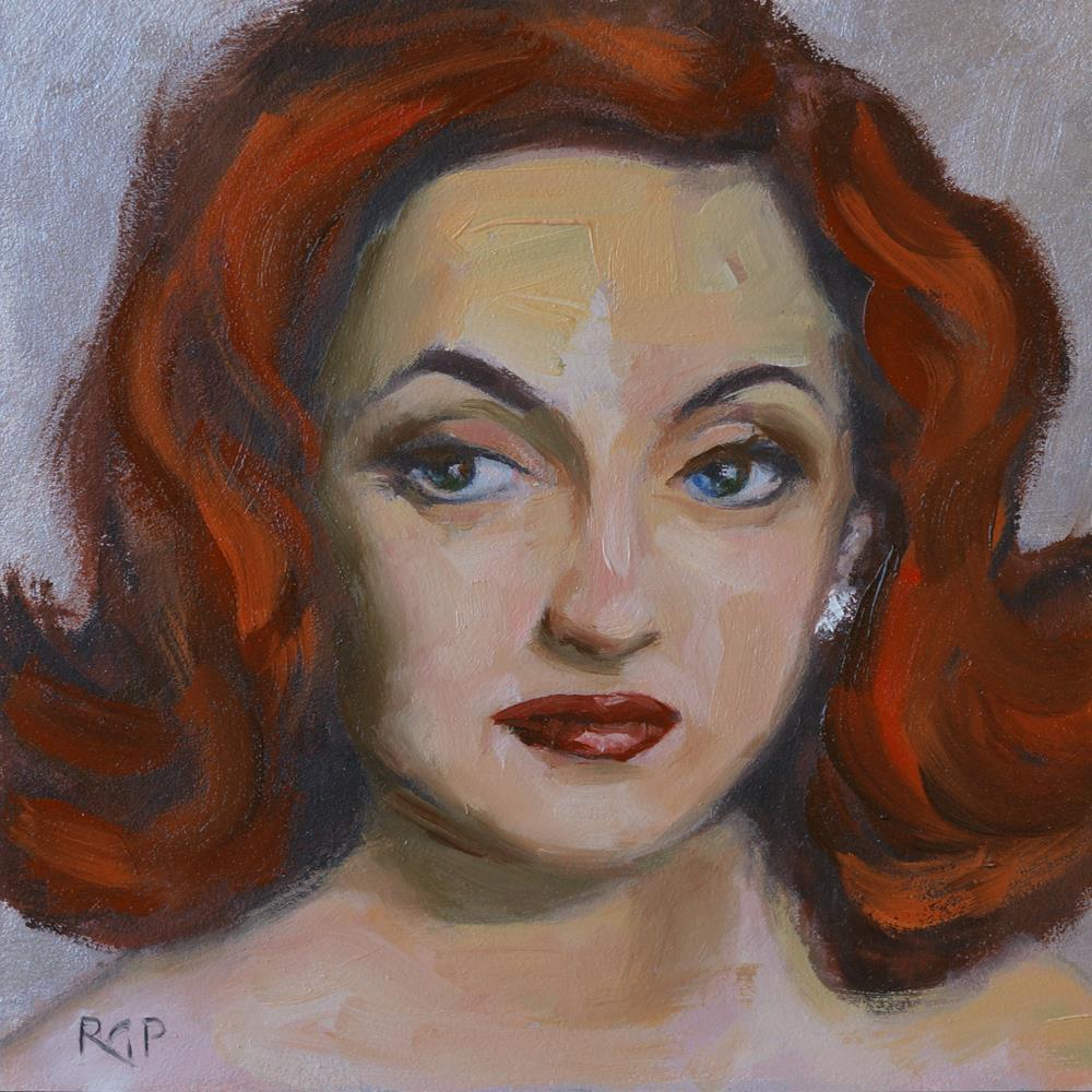 """""""Bette"""" original fine art by Rhea  Groepper Pettit"""