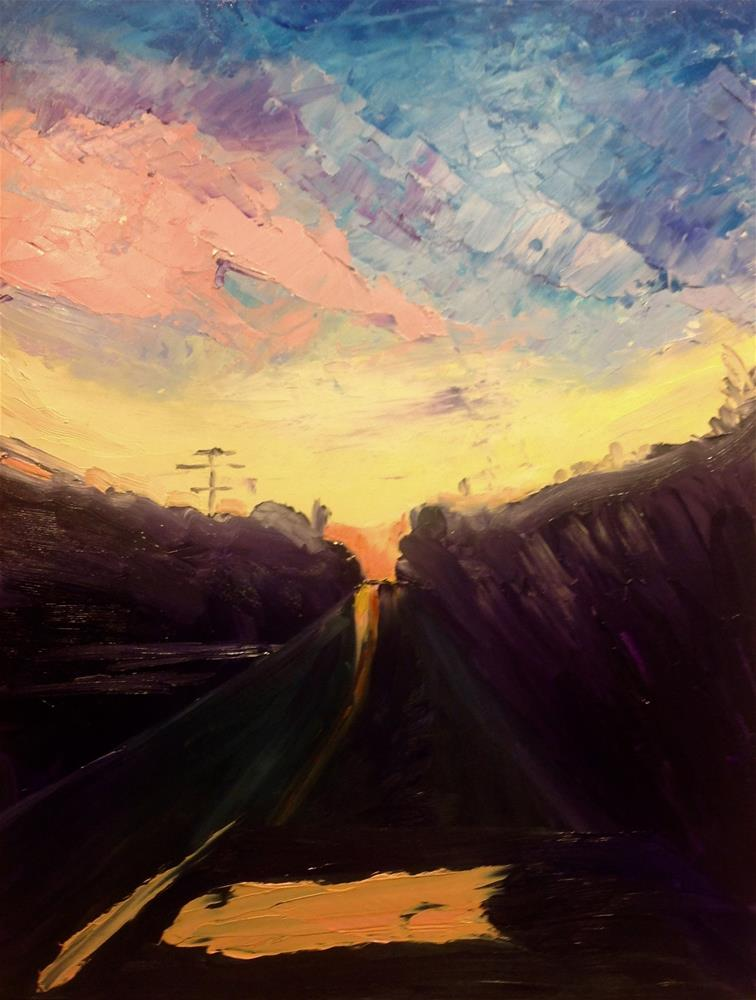 """Sunset Highway"" original fine art by Katherine Hambley"