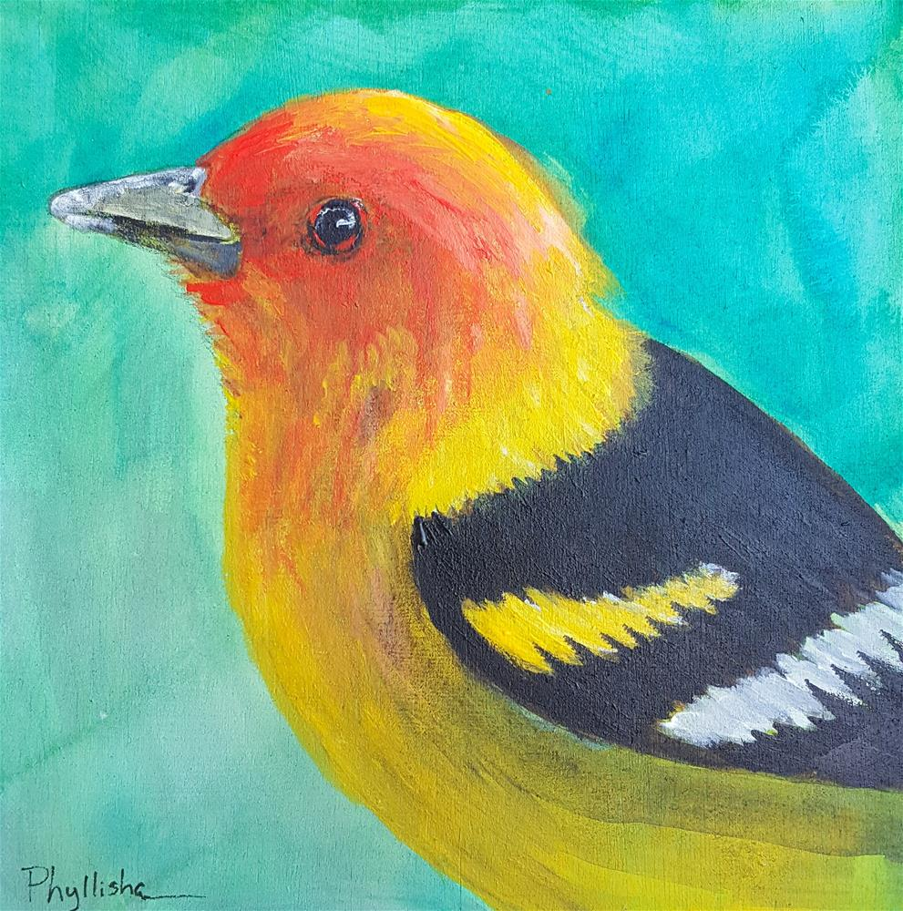 """Western Tanager"" original fine art by Phyllisha Hamrick"