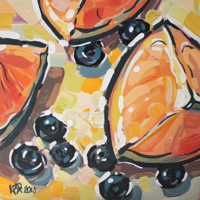 """Healthy Snacks 11"" original fine art by Roger Akesson"