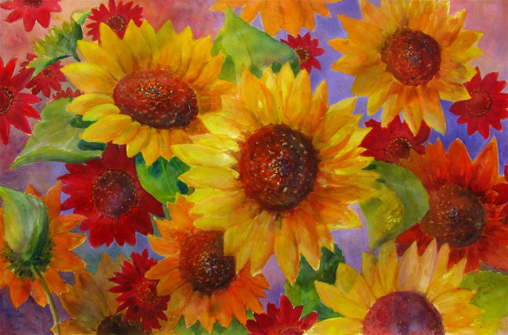 """Tango to the Sun"" original fine art by Melissa Gannon"
