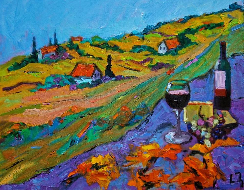 """Tuscan Happy Hour"" original fine art by Liz Zornes"