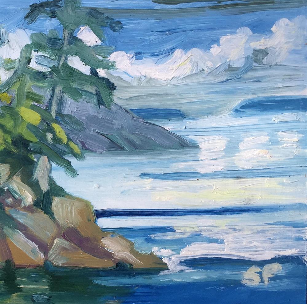 """Jones Island View"" original fine art by Sally Posner"