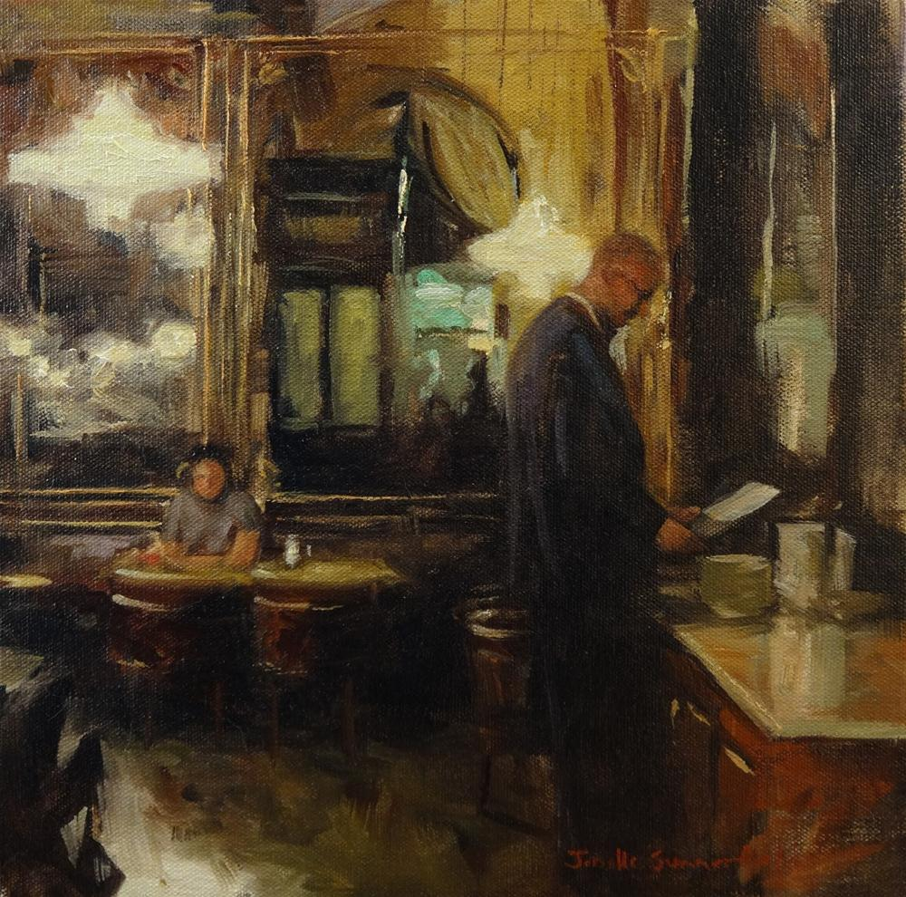 """""""Cafe Schwarzenberg"""" original fine art by Jonelle Summerfield"""