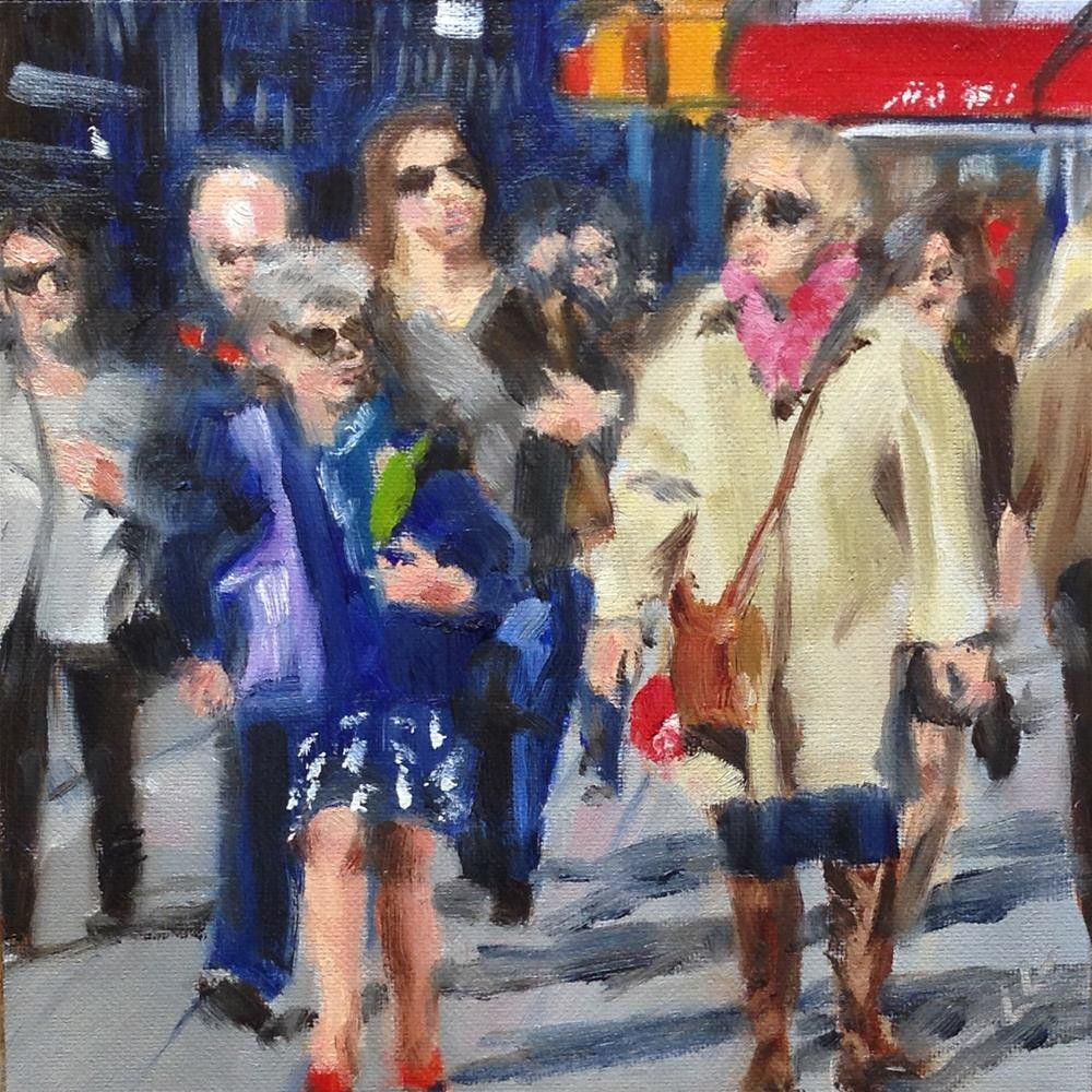 """""""Out on the Street"""" original fine art by Linda Lowery"""