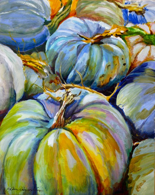 """Blue Monday"" original fine art by JoAnne Perez Robinson"