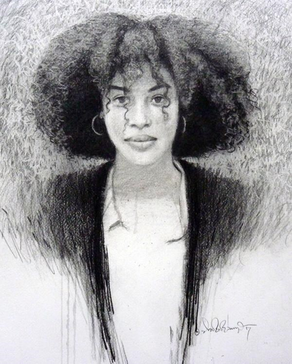 """""""AFRO NEW SERIES (I)"""" original fine art by Adebanji Alade"""