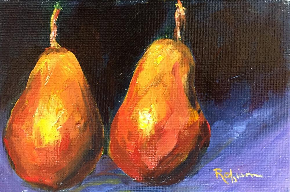 """""""Floating Pears"""" original fine art by Renee Robison"""