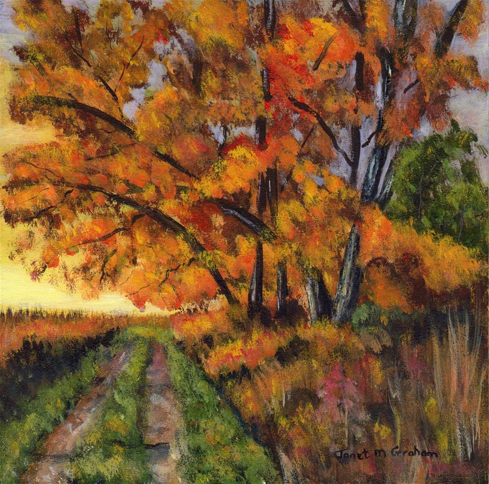 """Autumn's Splendour"" original fine art by Janet Graham"