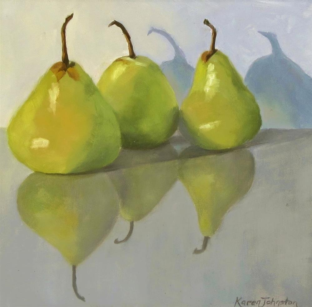 """Pears on a Palette"" original fine art by Karen Johnston"