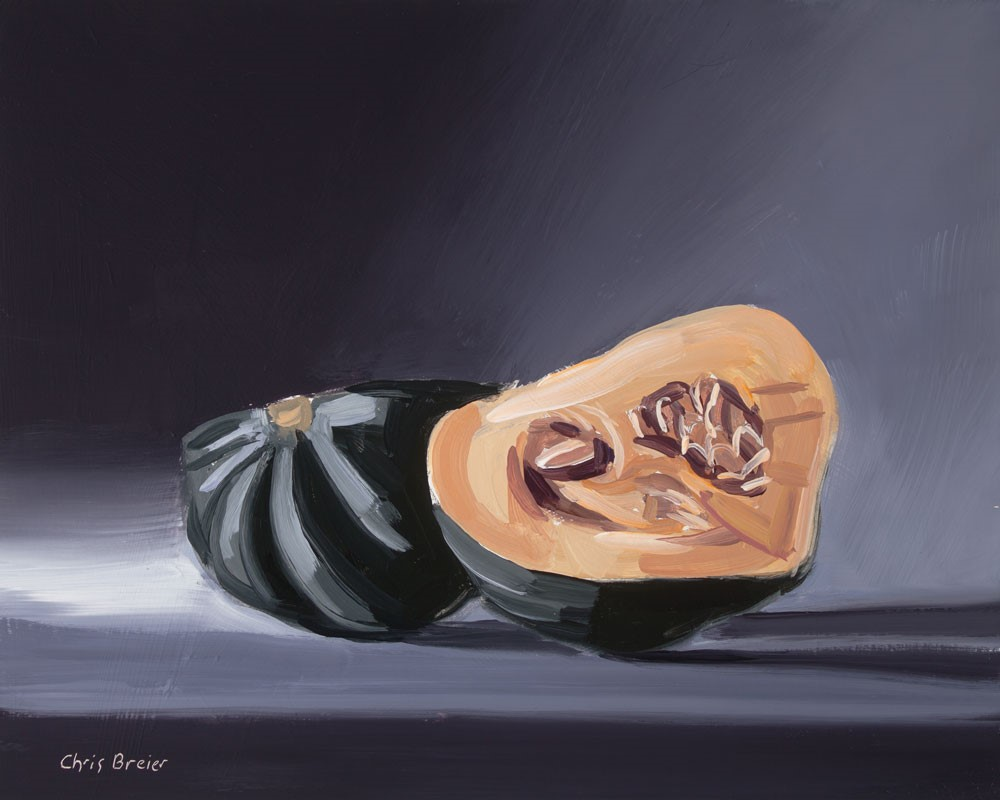 """Acorn Squash"" original fine art by Chris Breier"