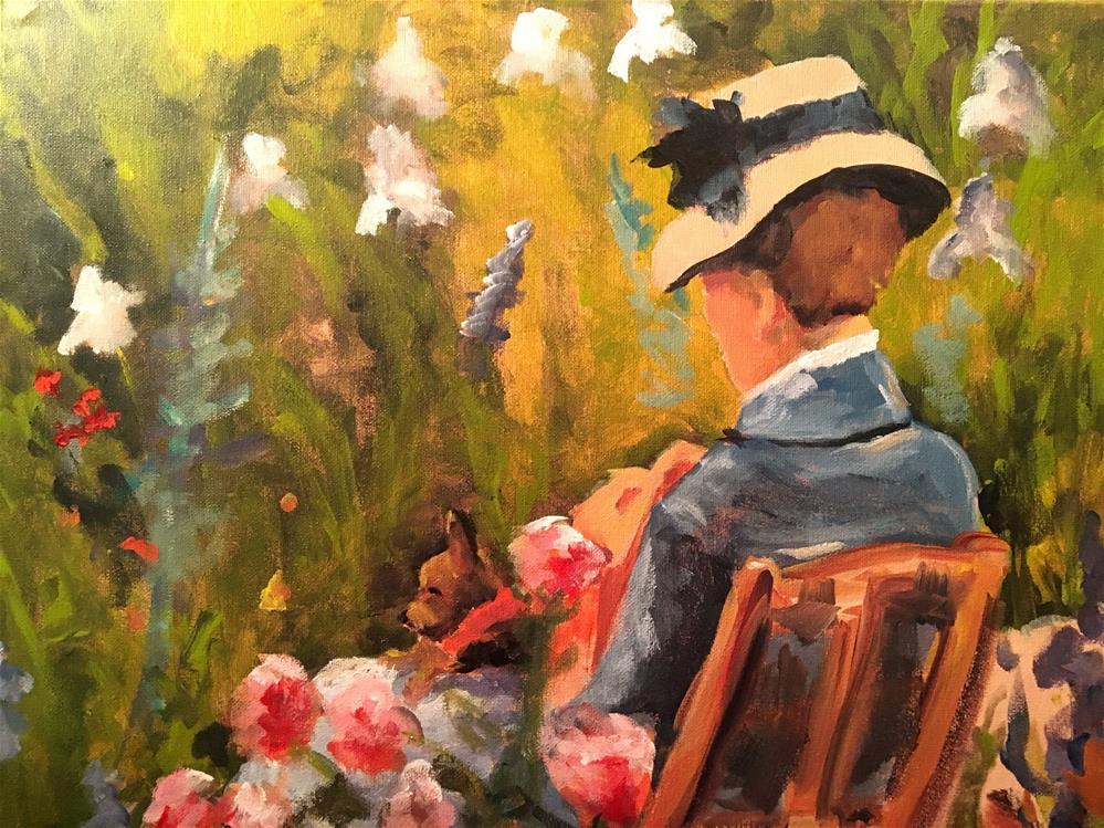 """In the Garden"" original fine art by Susan Elizabeth Jones"