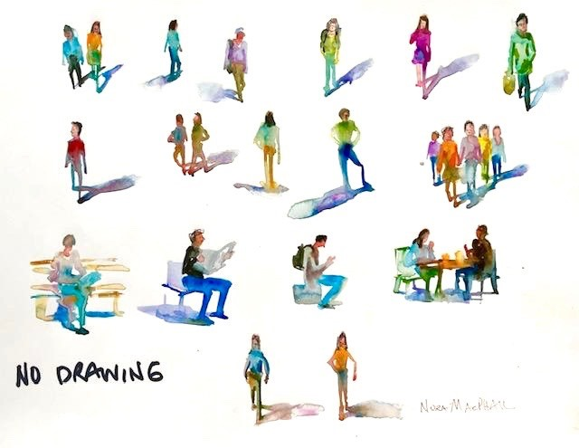"""""""people on a page - no drawing"""" original fine art by Nora MacPhail"""