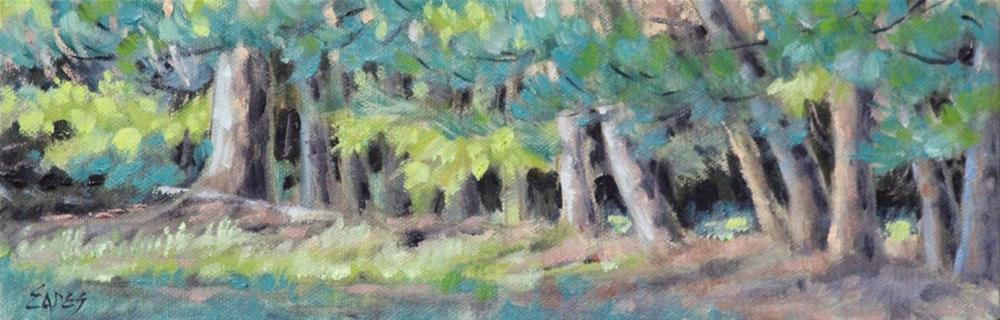 """Tree Line"" original fine art by Linda Eades Blackburn"