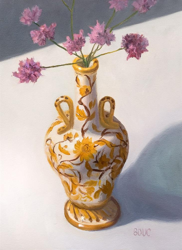"""Mom's Vintage Perugia Italian Vase with Little Flowers"" original fine art by Jana Bouc"