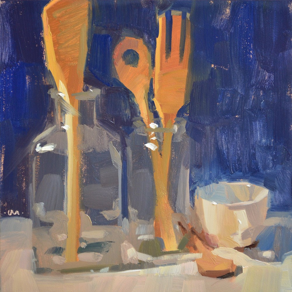 """Wooden Salute"" original fine art by Carol Marine"