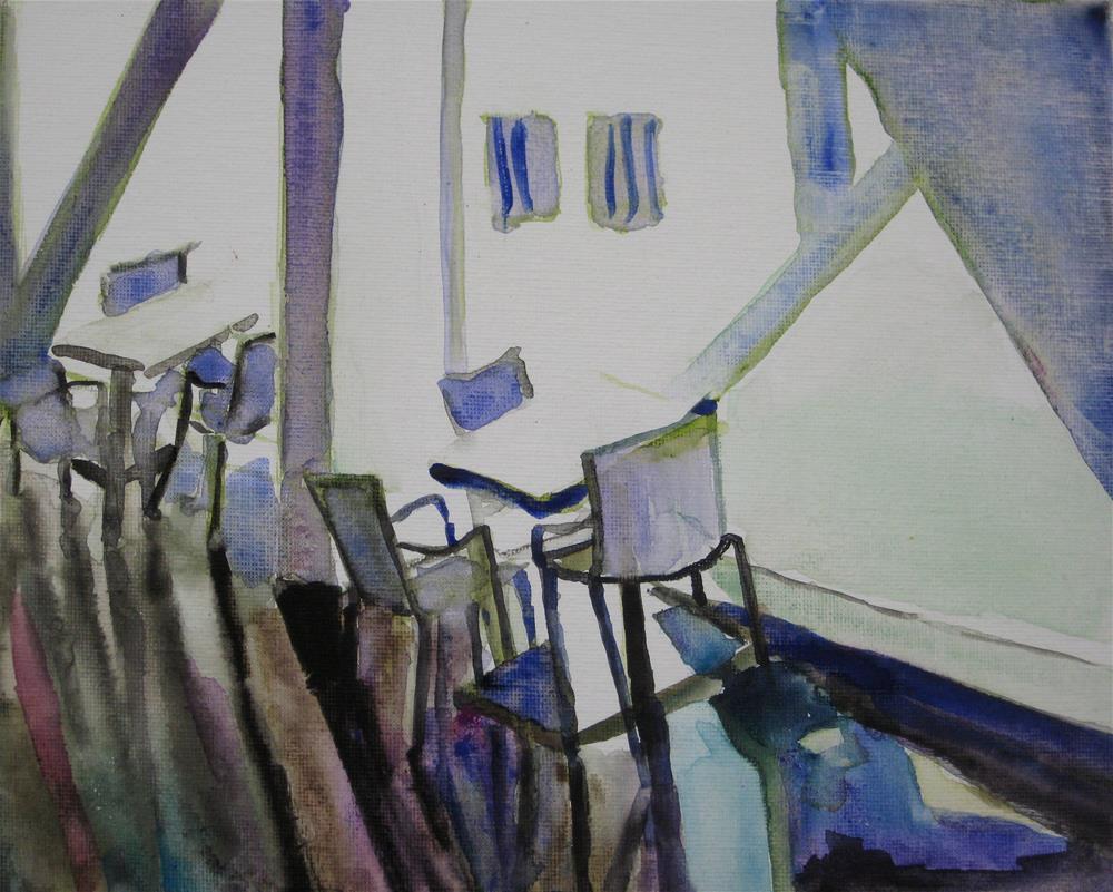 """""""Chairs in DAM"""" original fine art by Julia Lu"""