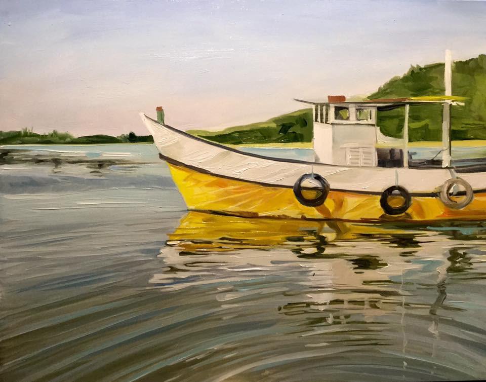 """The Yellow Ledbetter"" original fine art by Lauren Kuhn"