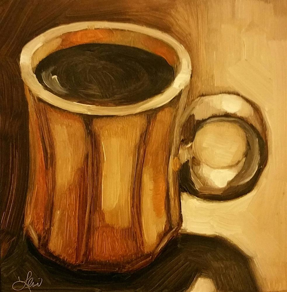 """""""Just A Cup Of Coffee"""" original fine art by Leni Tarleton"""