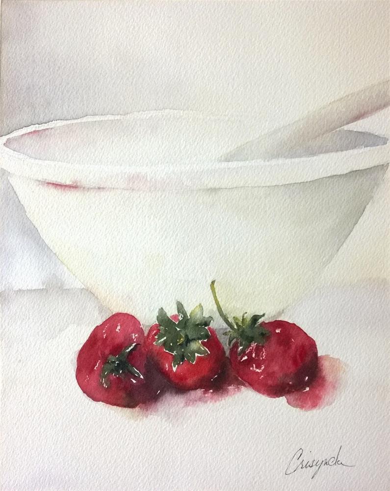 """Juicy Strawberries"" original fine art by Crisynda Buss"