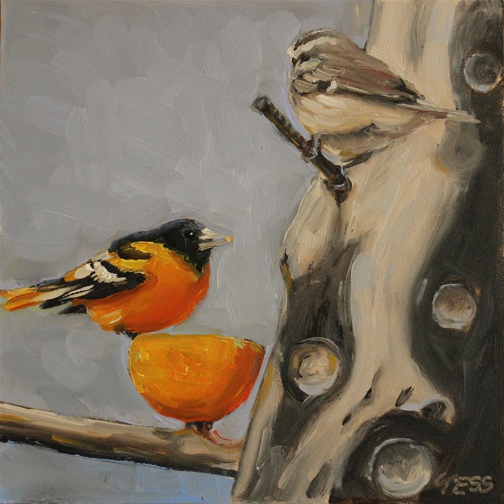 """Day 9- Baltimore Oriole"" original fine art by Tess Lehman"