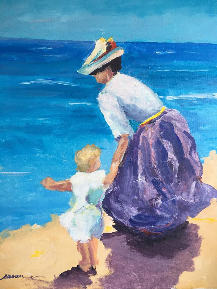 """Monet's Beach Demo"" original fine art by Susan Elizabeth Jones"