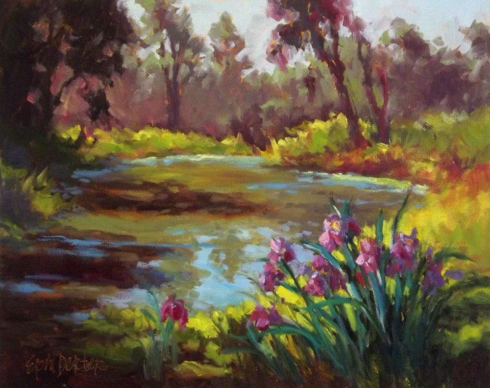 """Leaning Into the Light"" original fine art by Erin Dertner"