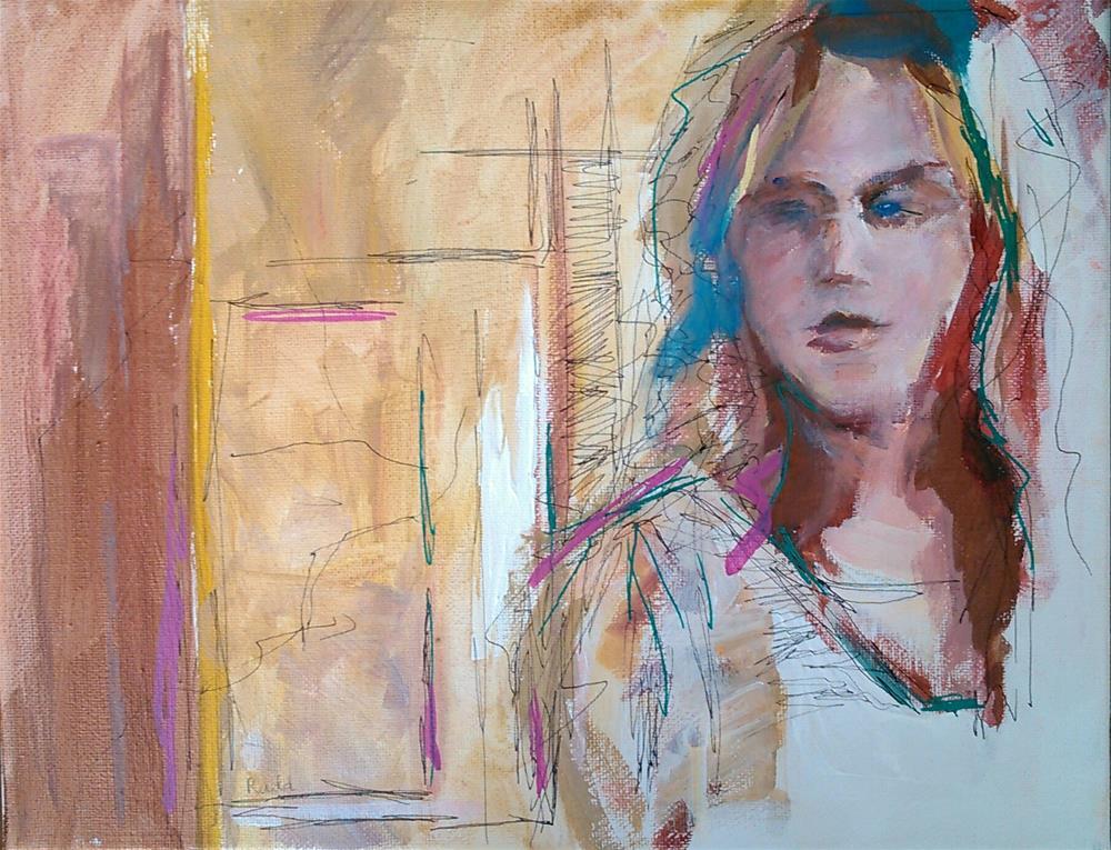 """""""At the Door"""" original fine art by Ann Rudd"""