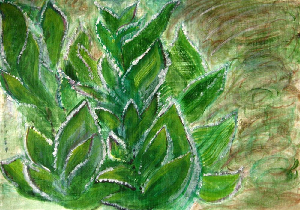 """Frozen Leaves"" original fine art by Alina Frent"