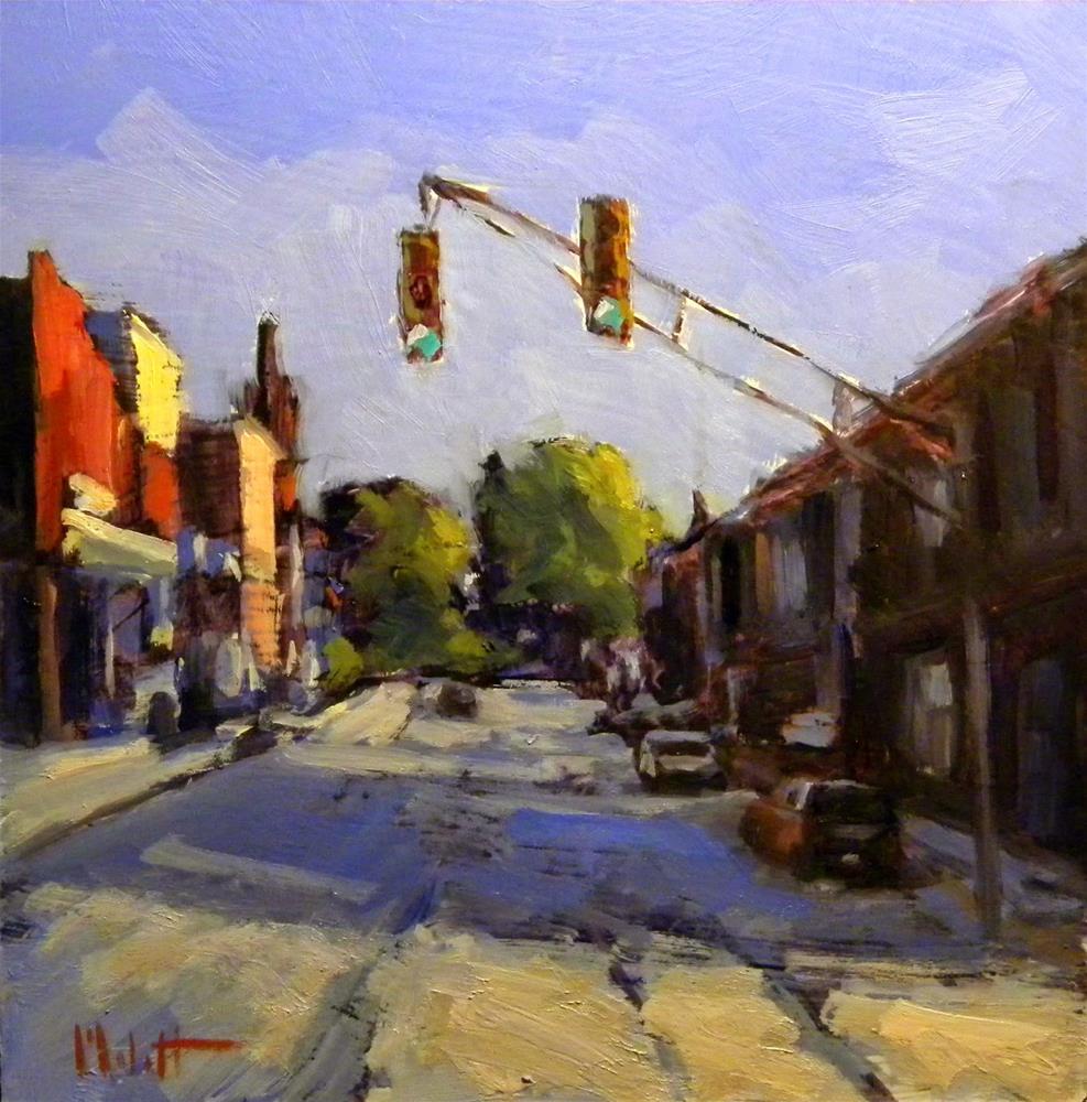 """8x8 Smalltown America Contemporary Impressionism Heidi Malott"" original fine art by Heidi Malott"