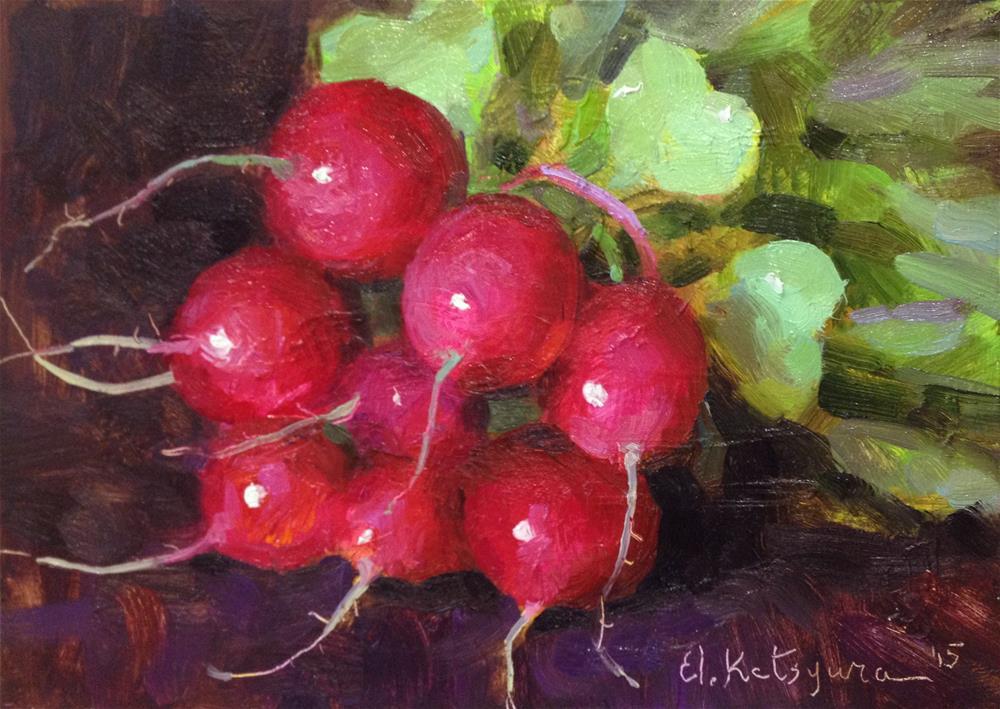 """First Spring Harvest"" original fine art by Elena Katsyura"