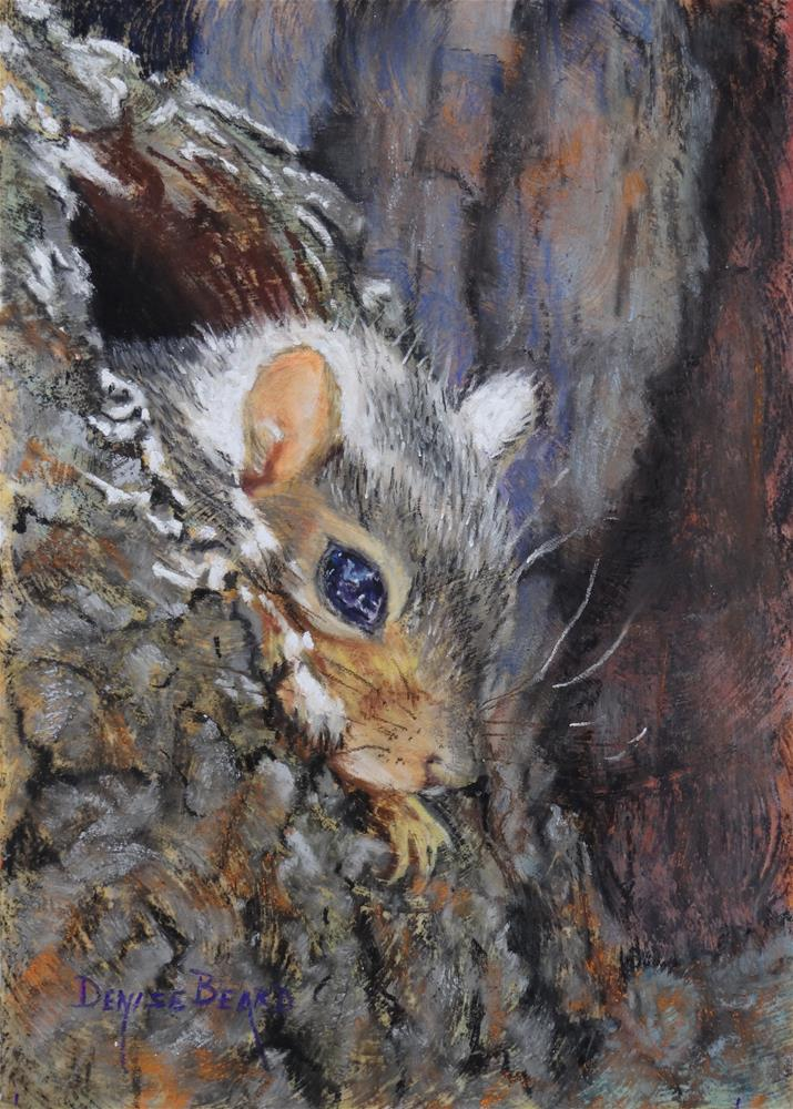 """First Peek"" original fine art by Denise Beard"