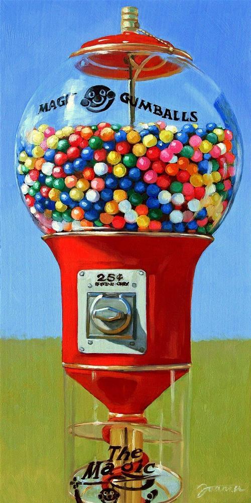 """Magic Gumballs"" original fine art by Joanna Bingham"
