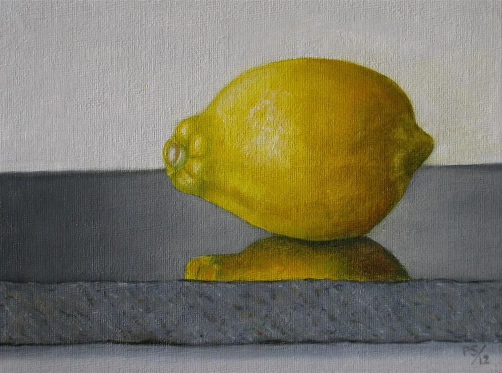 """Lemon on granite"" original fine art by Pera Schillings"