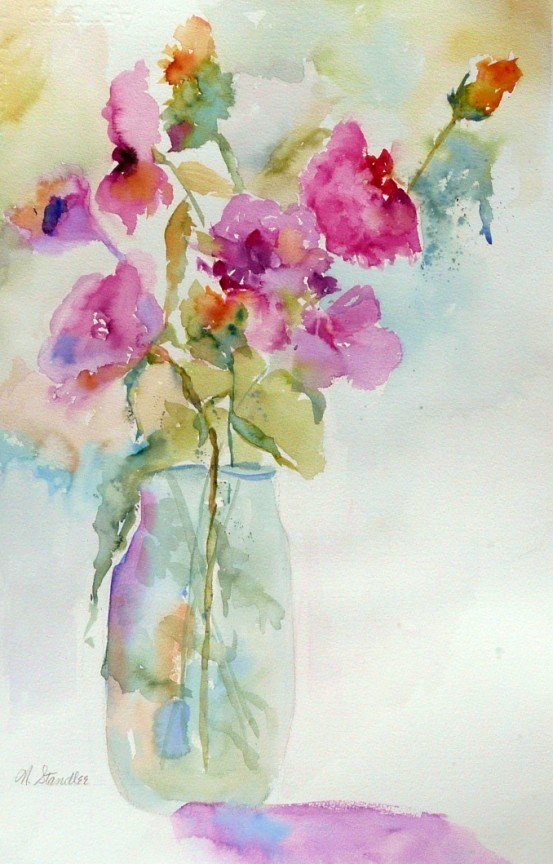 """Watercolor Floral 12102"" original fine art by Nancy Standlee"