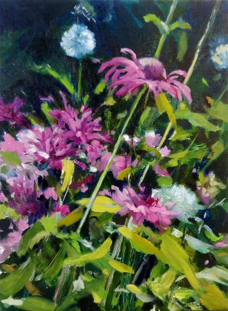 """""""Bee Balm for Betty"""" original fine art by Cathy Boyd"""