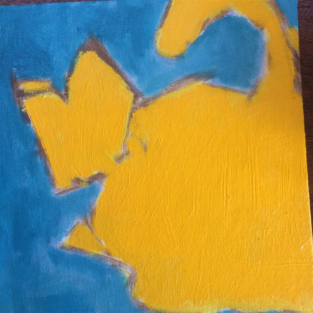 """Good day sunshine cat"" original fine art by pamela kish"