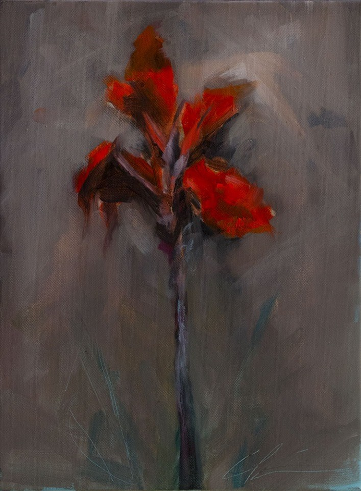"""Red Canna"" original fine art by Clair Hartmann"