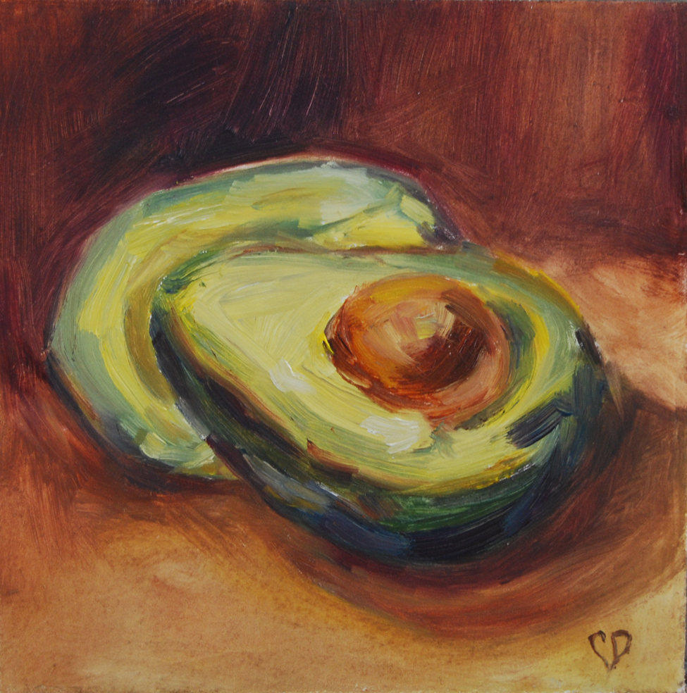 """Avocado Study"" original fine art by Carol DeMumbrum"