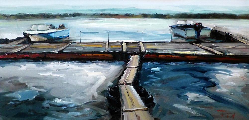 """""""Boats"""" original fine art by Jurij Frey"""